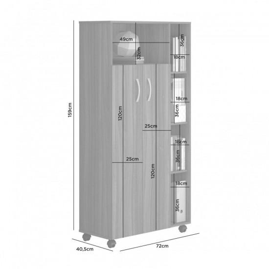 Шкаф Атлант 2 двери, 4 полки, 4 ниши