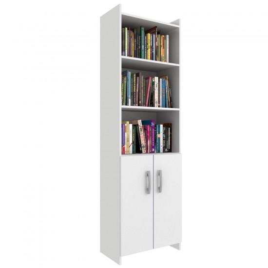 Книжный шкаф библиотека Торонто 2 двери 4 полки