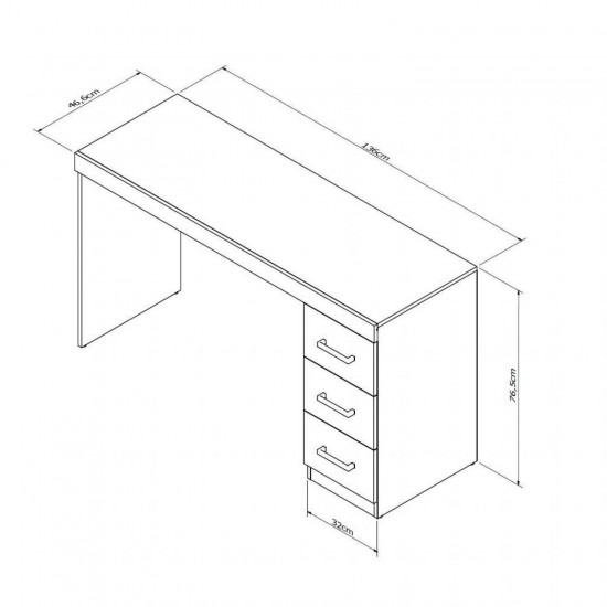 Письменный стол Дублин с 3 ящиками
