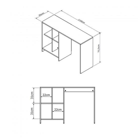 Письменный стол Лион 4 ниши